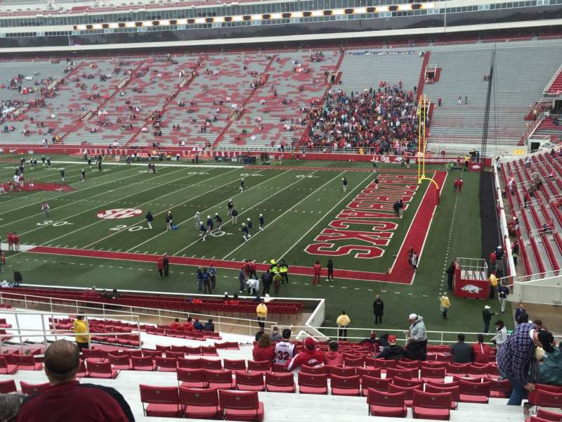 Seating view for Razorback Stadium Section 102 Row 38 Seat 36