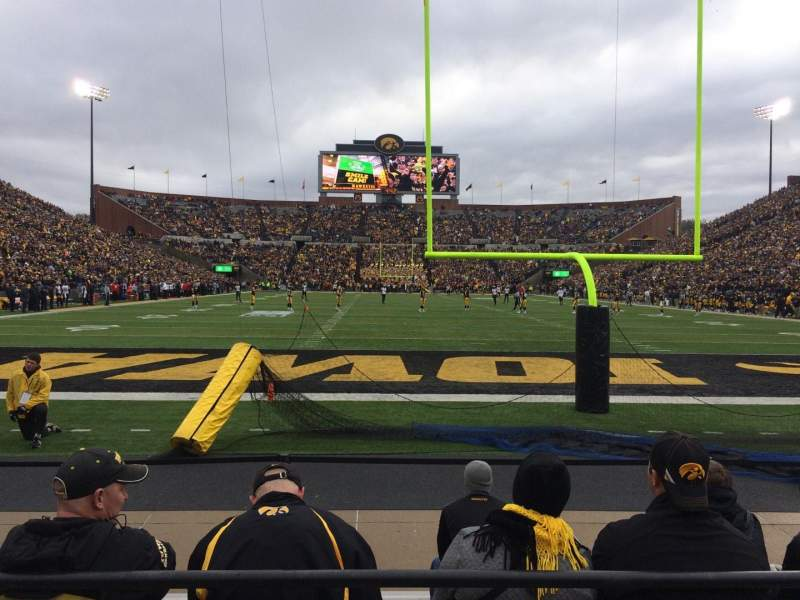 Seating view for Kinnick Stadium Section 135 Row 1 Seat 30