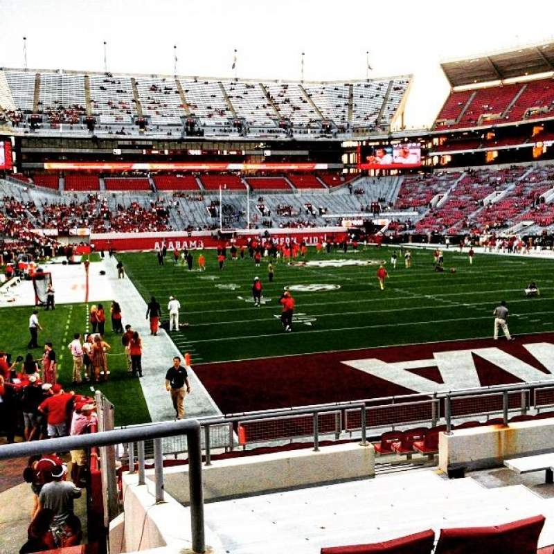 Seating view for Bryant-Denny Stadium Section N-7 Row 19 Seat 8