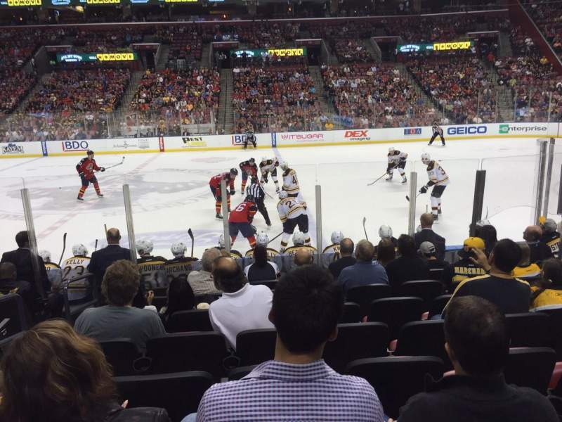 Seating view for BB&T Center Section 134 Row 10 Seat 12