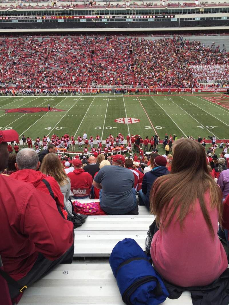 Seating view for Razorback Stadium Section 103 Row 32 Seat 15