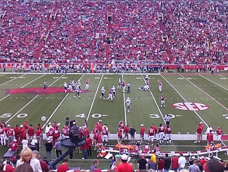 Seating view for Razorback Stadium Section 104 Row 27 Seat 33