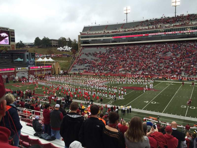 Seating view for Razorback Stadium Section 103 Row 32 Seat 16
