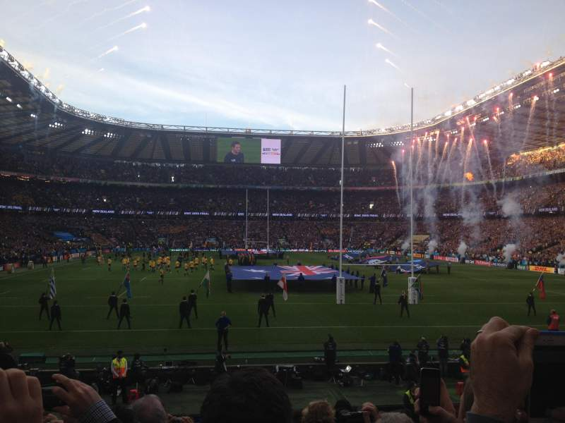 Seating view for Twickenham Stadium Section L34 Row 18 Seat 192