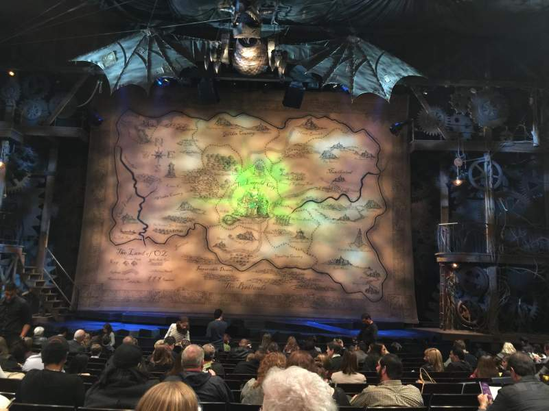 Seating view for Gershwin Theatre Section Orchestra R Row K Seat 12