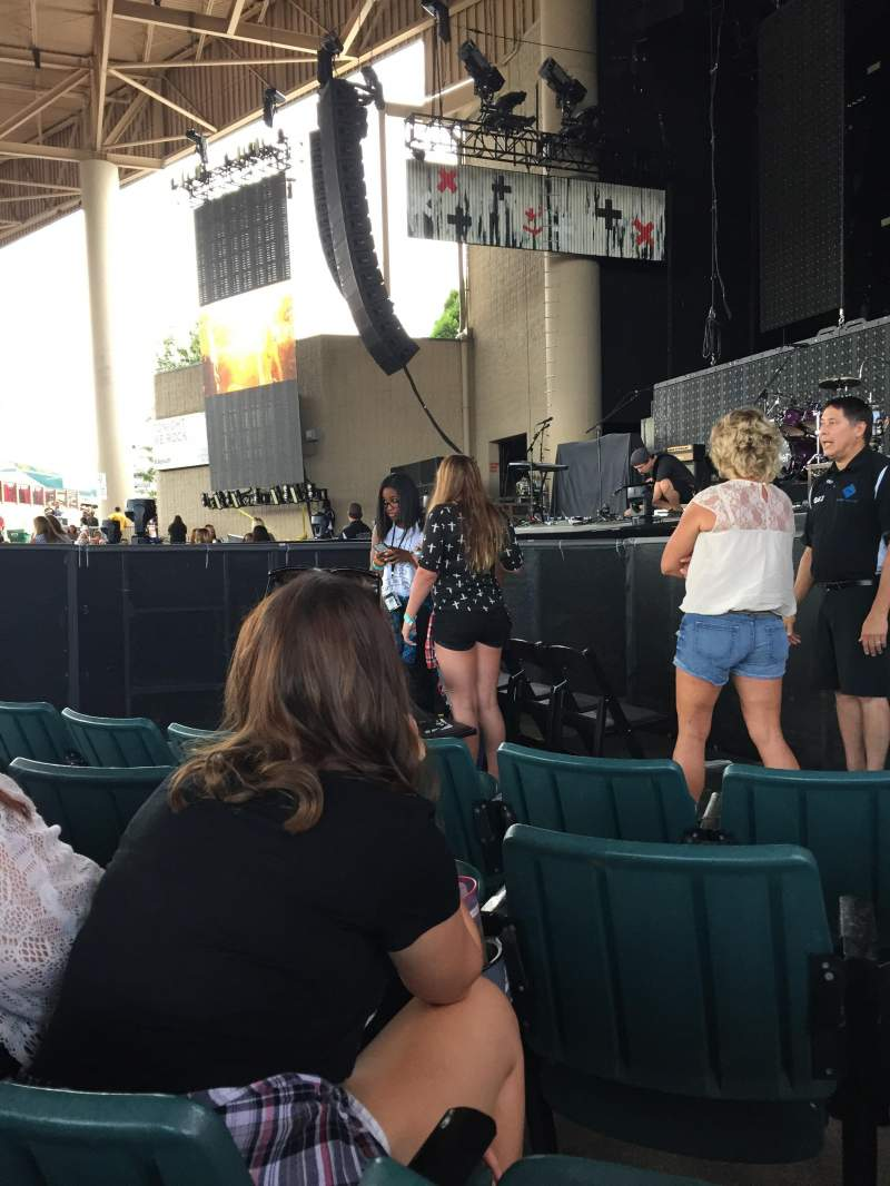 Seating view for Klipsch Music Center Section C Row H Seat 10