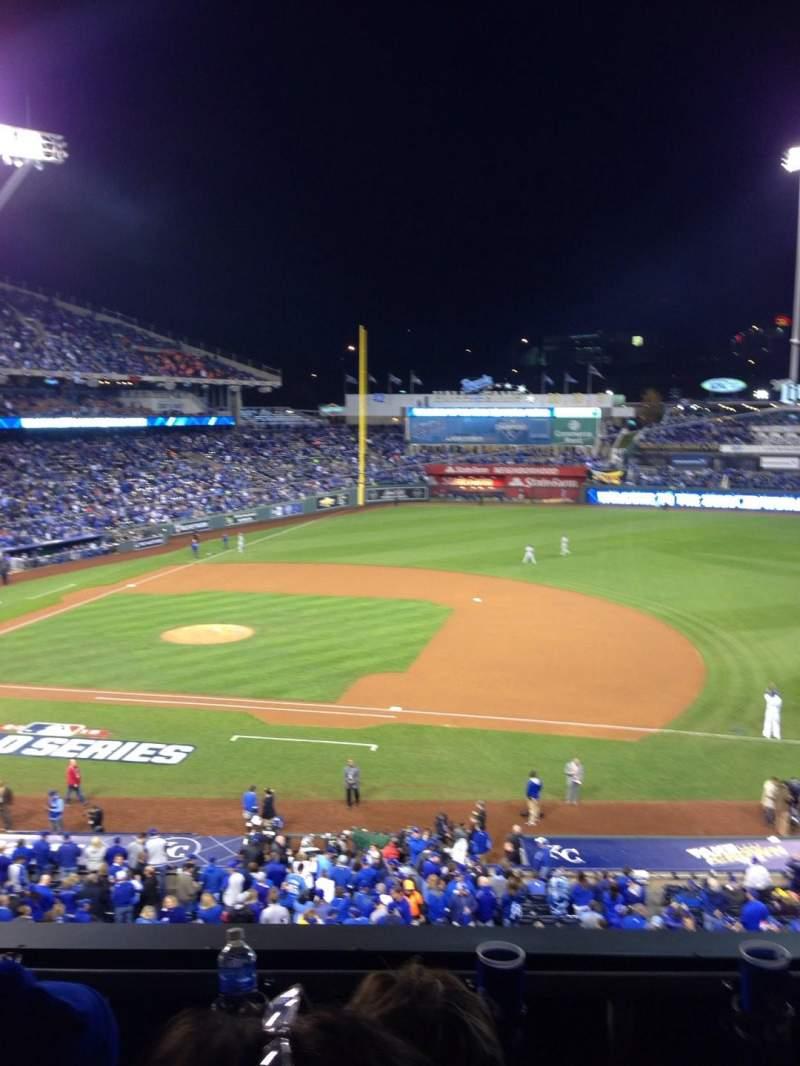 Kauffman Stadium, section: 318, row: C, seat: 5