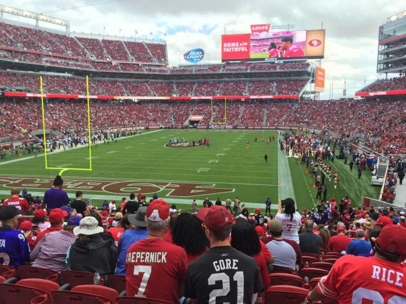Seating view for Levi's Stadium Section 101 Row 31 Seat 17