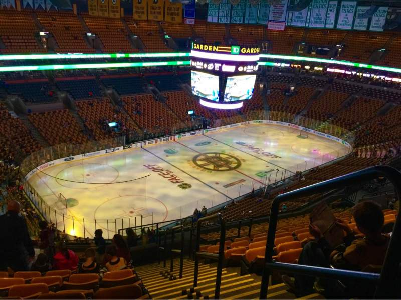 Seating view for TD Garden Section Bal 319 Row 15 Seat 27