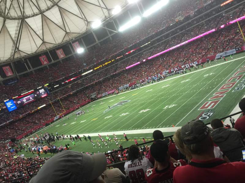 Seating view for Georgia Dome Section 215 Row 6 Seat 9