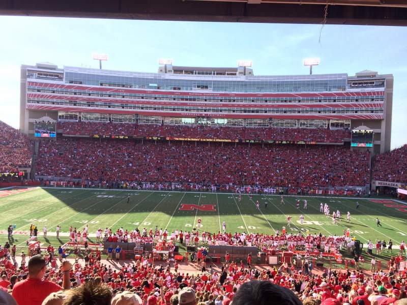 Seating view for Memorial Stadium Section 6 Row 39 Seat 4