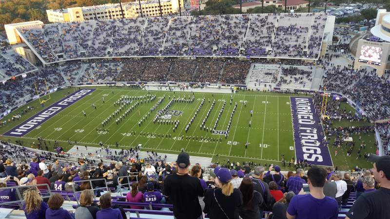 Seating view for Amon G. Carter Stadium Section 403 Row Z Seat 16