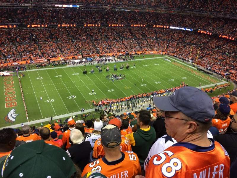 Seating view for Sports Authority Field at Mile High Section 538 Row 20 Seat 14
