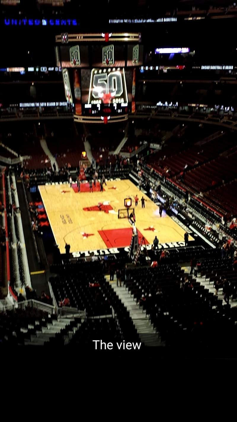 Seating view for United Center Section 310 Row 4 Seat 12