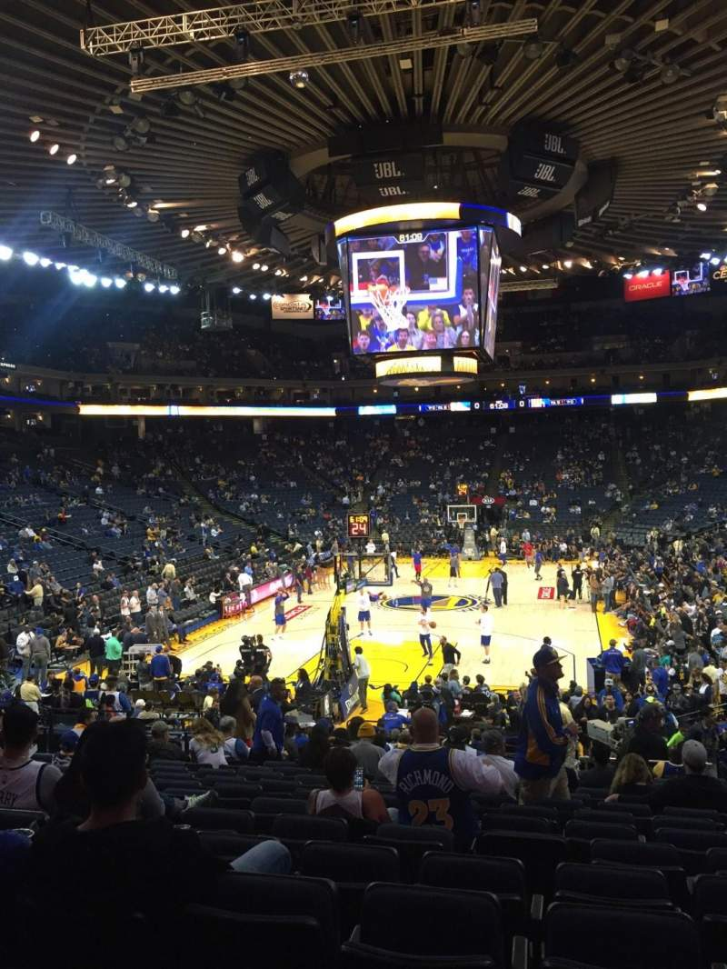 Seating view for Oracle Arena Section 121 Row 18 Seat 12