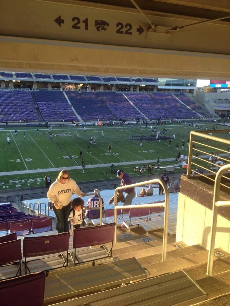 Seating view for Bill Snyder Family Stadium Section 21 Row 46 Seat 1