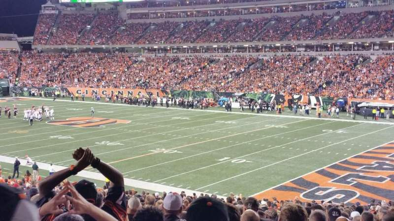 Seating view for Paul Brown Stadium Section 132 Row 35 Seat 10
