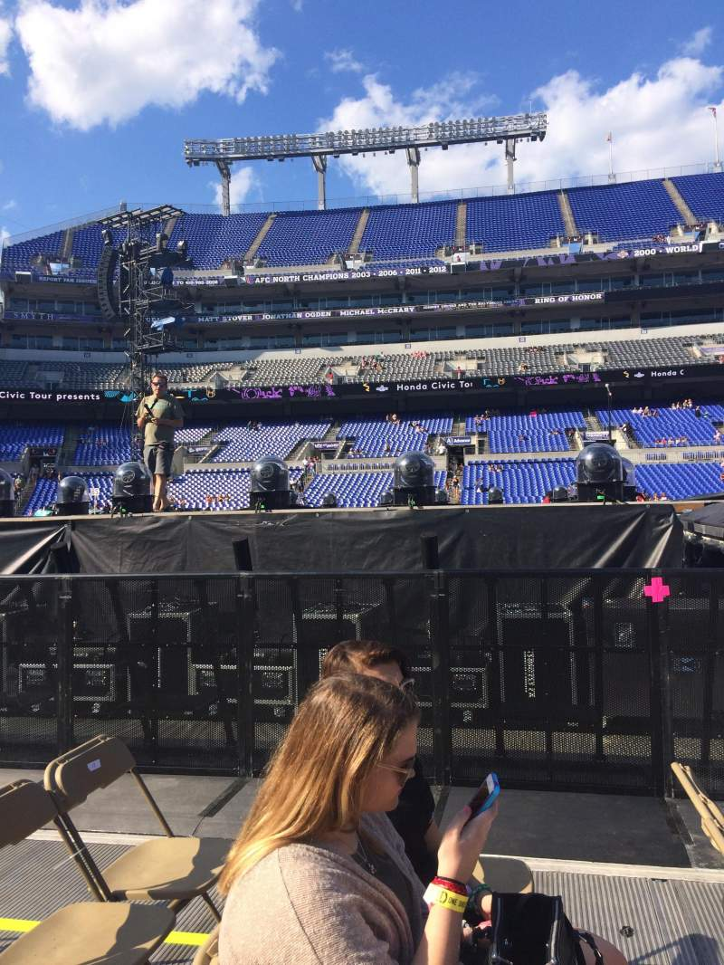 Seating view for M&T Bank Stadium Section B3 Row 15 Seat 7