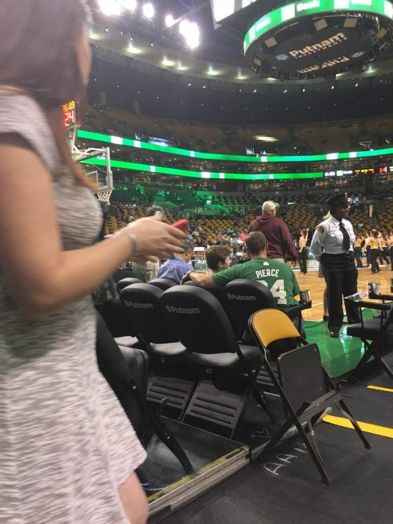 Seating view for TD Garden Section Lodge Row 14 Seat 9