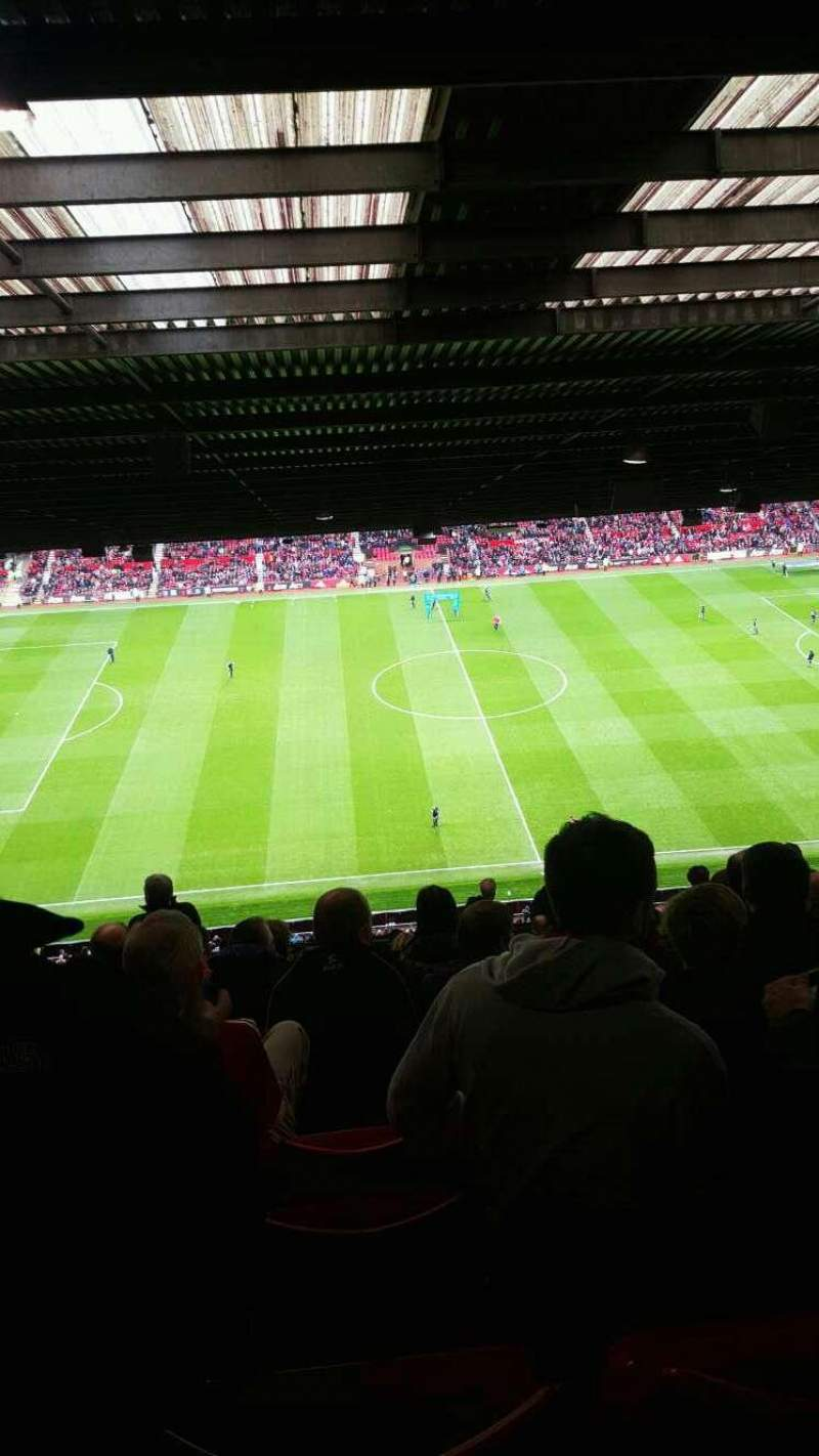 Seating view for Old Trafford Section n4404 Row 16 Seat 151