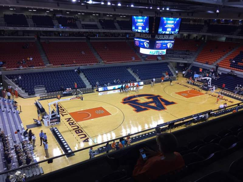 Seating view for Auburn Arena Section 215 Row 28 Seat 22