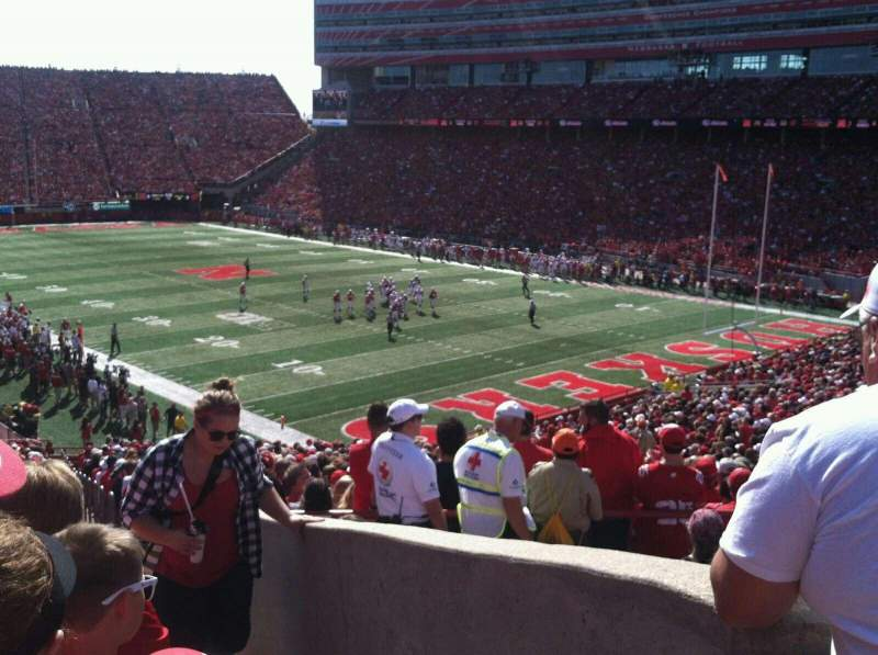 Seating view for Memorial Stadium Section 40 Row 50 Seat 1