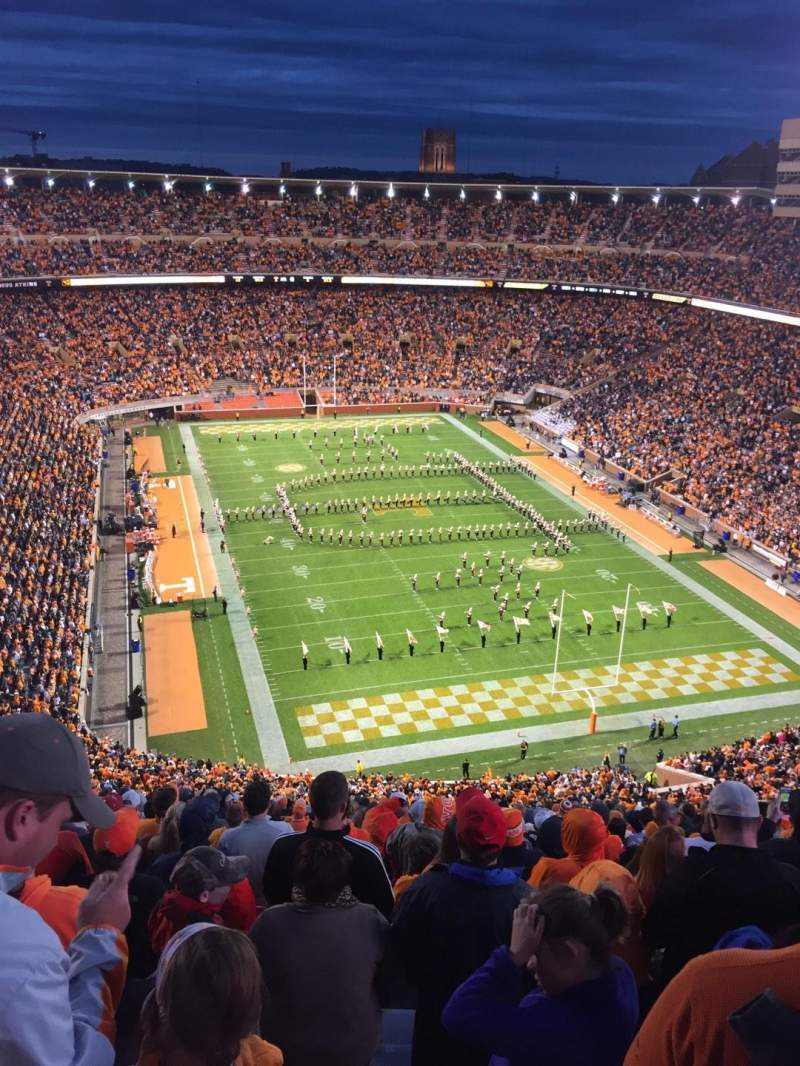 Seating view for Neyland Stadium Section NN Row 33 Seat 17
