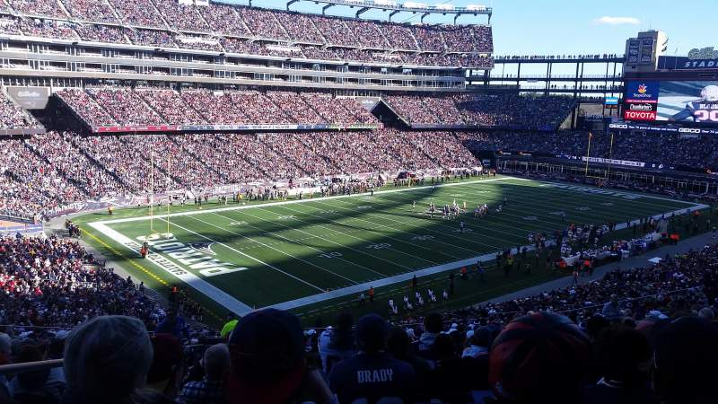 Seating view for Gillette Stadium Section 237 Row 22 Seat 21