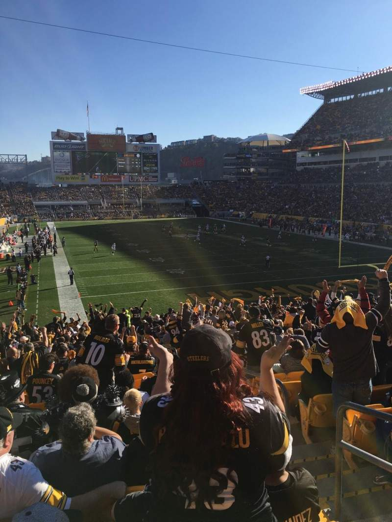 Seating view for Heinz Field Section 120 Row GG Seat 3