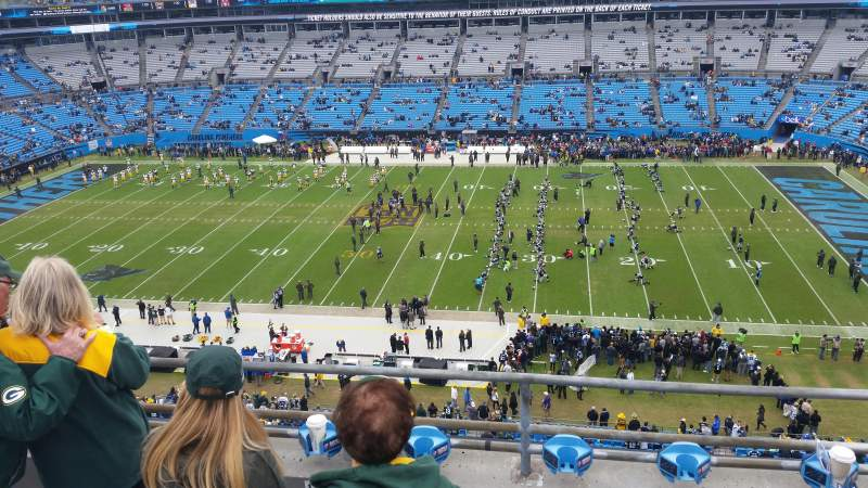 Seating view for Bank of America Stadium Section 513 Row 1A Seat 14