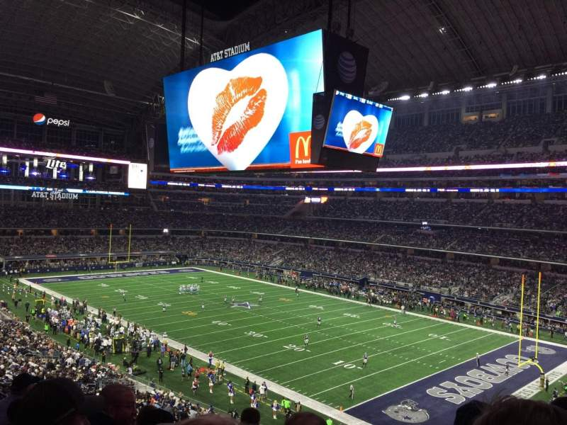 Seating view for AT&T Stadium Section 404 Row 6 Seat 1