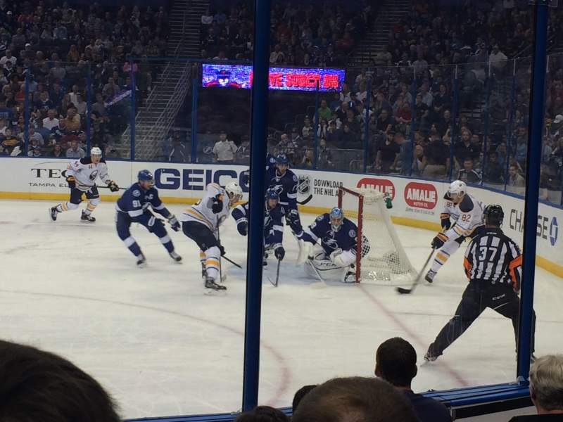 Seating view for Amalie Arena Section 128 Row F Seat 13