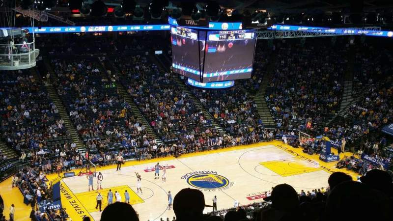 Seating view for Oracle Arena Section 203 Row 16 Seat 19