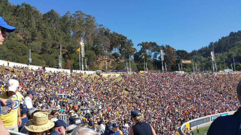 Seating view for California Memorial Stadium Section B Row 36 Seat 16