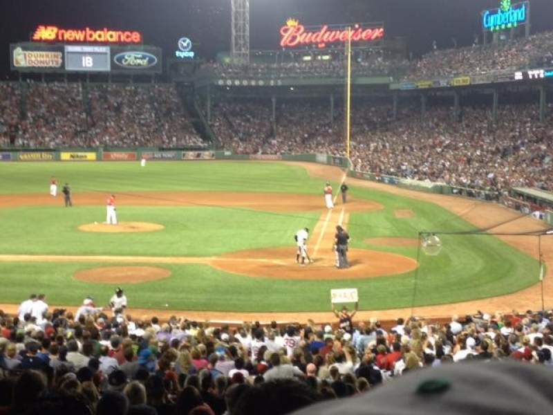 Seating view for Fenway Park Section Grandstand 24 Row 6 Seat 5