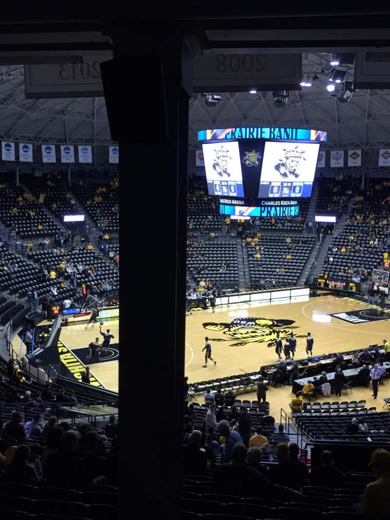 Seating view for Charles Koch Arena Section 123 Row 34 Seat 14