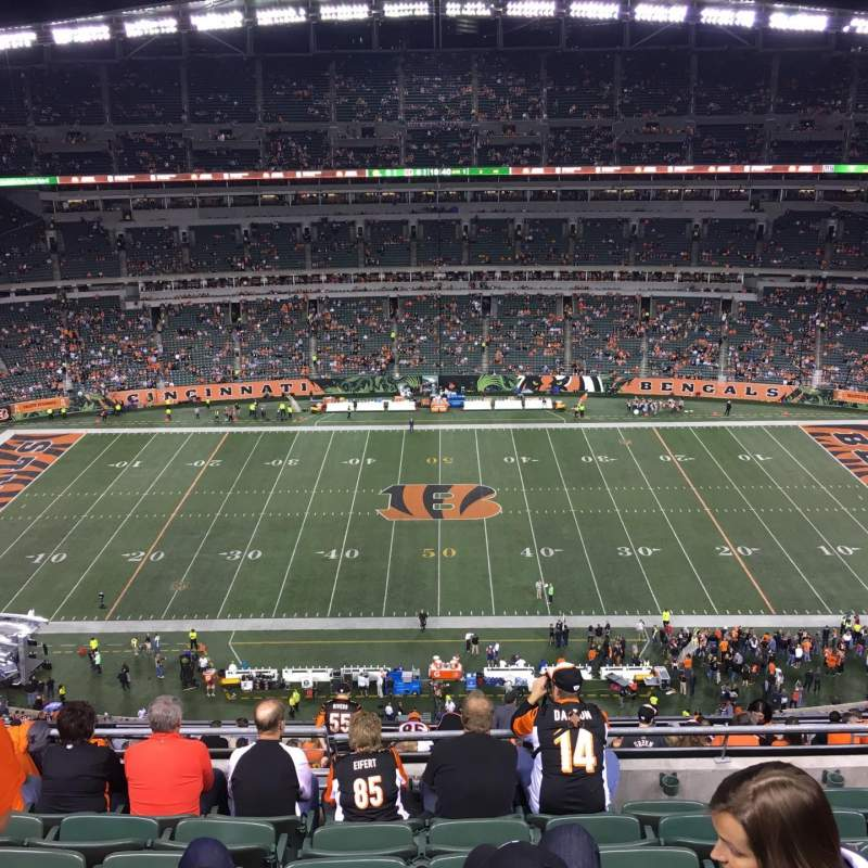 Seating view for Paul Brown Stadium Section 310 Row 19 Seat 10