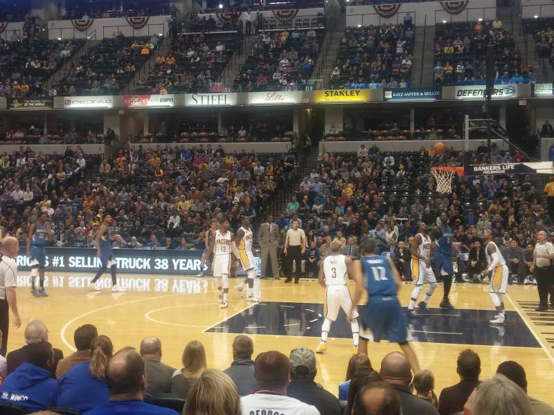 Seating view for Bankers Life Fieldhouse Section 15 Row 9 Seat 8