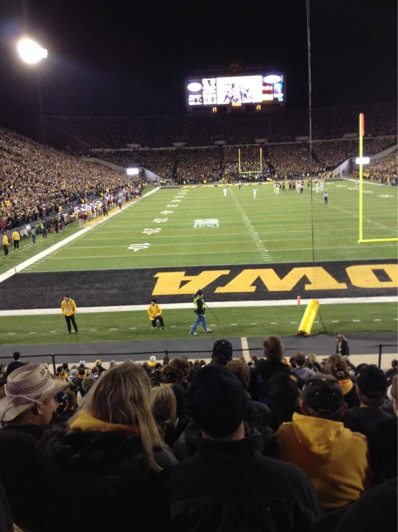 Seating view for Kinnick Stadium Section 136 Row 18 Seat 8