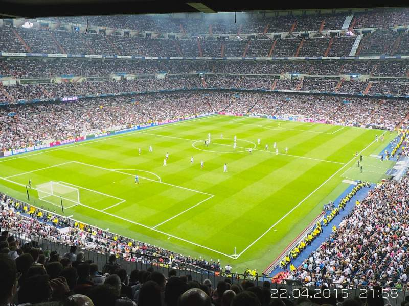 Seating view for Santiago Bernabéu Stadium