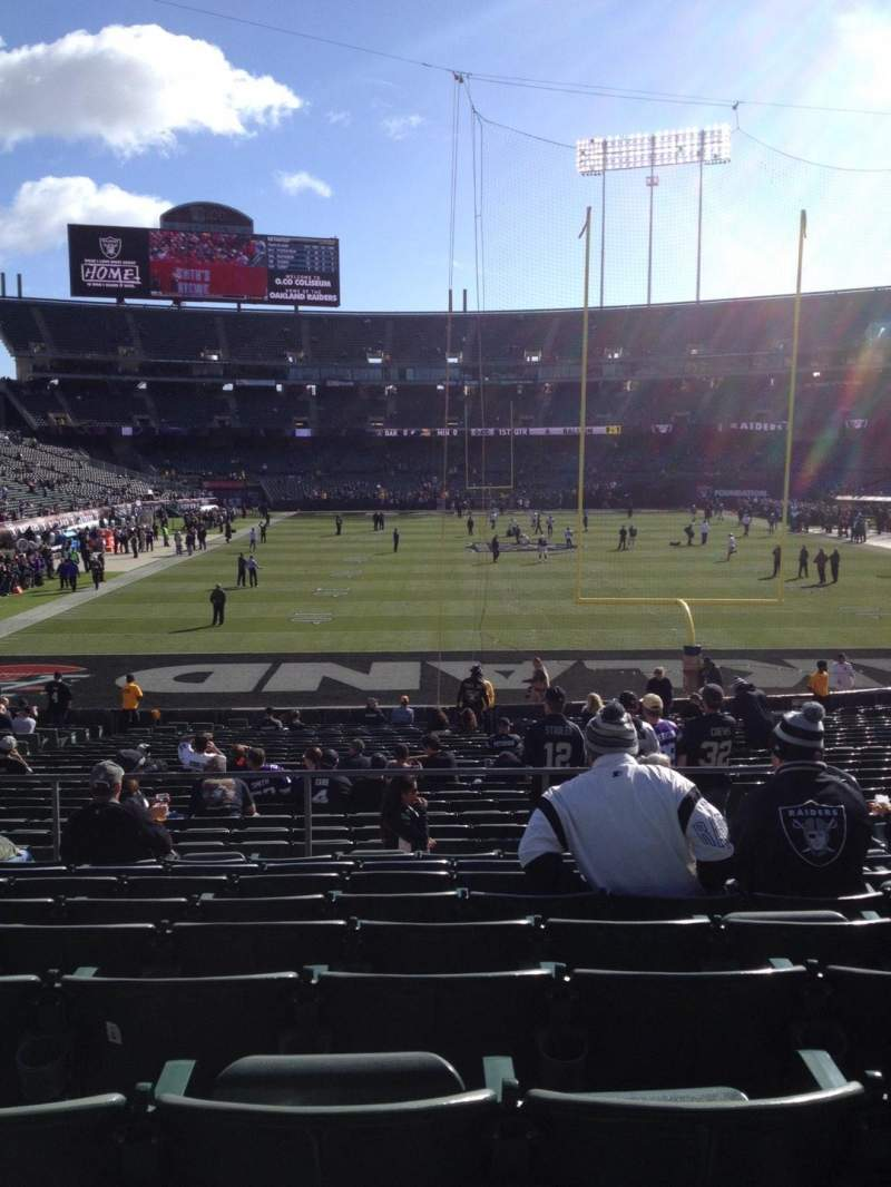 Seating view for Oakland Alameda Coliseum Section 129 Row 29 Seat 8