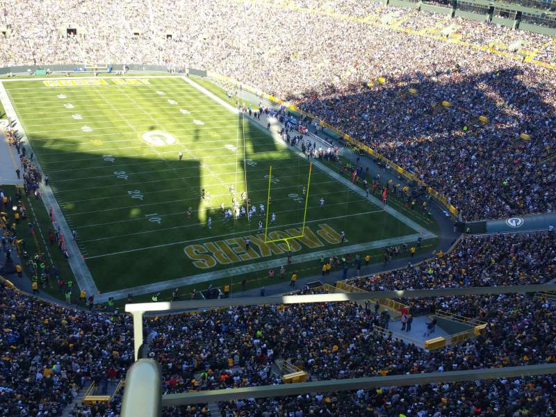 Seating view for Lambeau Field Section 744s Row 11 Seat 10