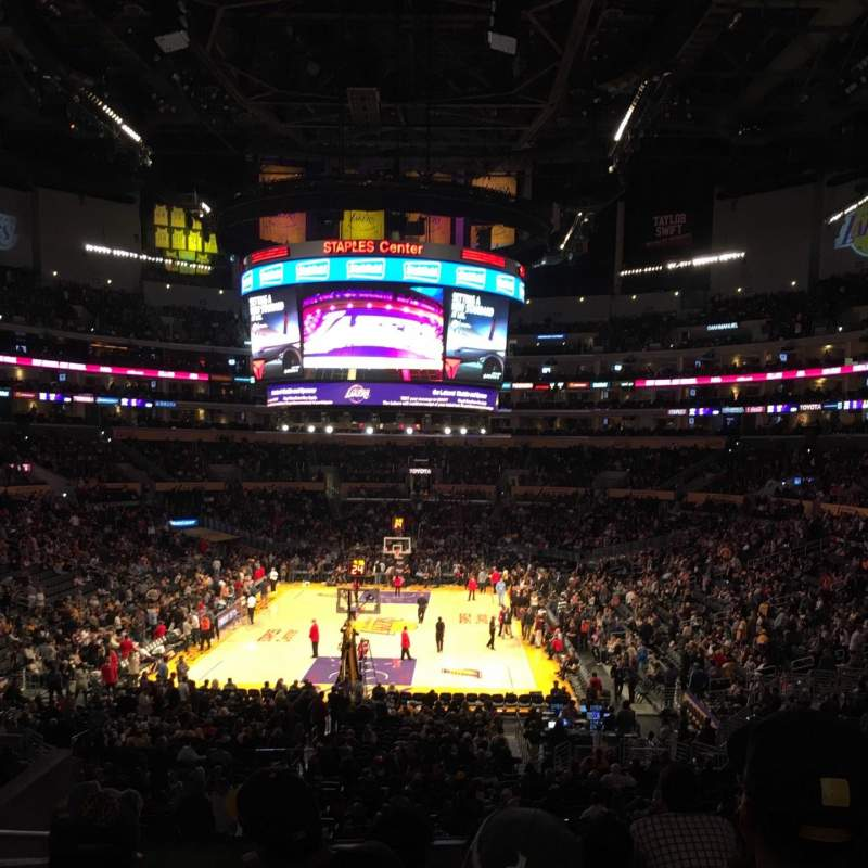 Seating view for Staples Center Section 216 Row 9 Seat 15
