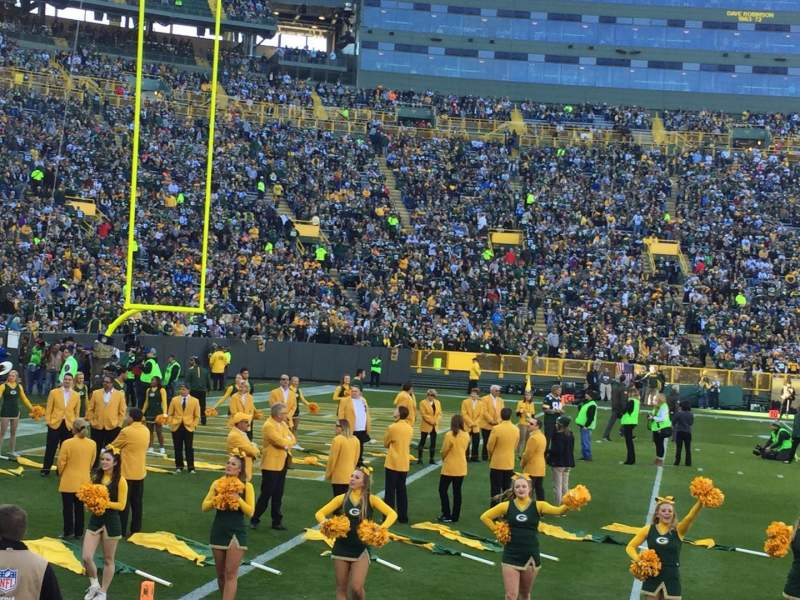 Seating view for Lambeau Field Section 127 Row 3 Seat 3