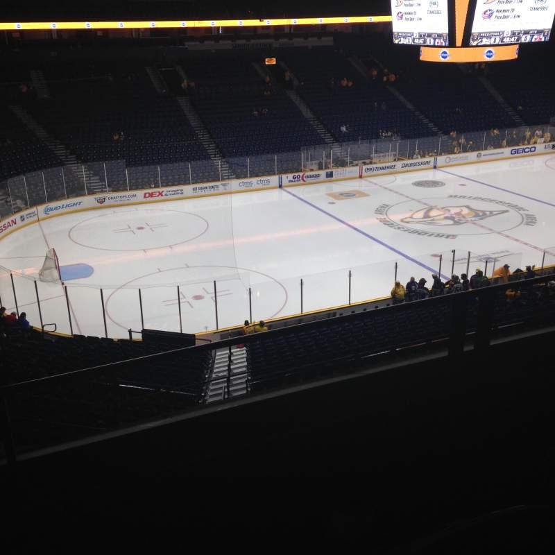Seating view for Bridgestone Arena Section 213 Row E Seat 16