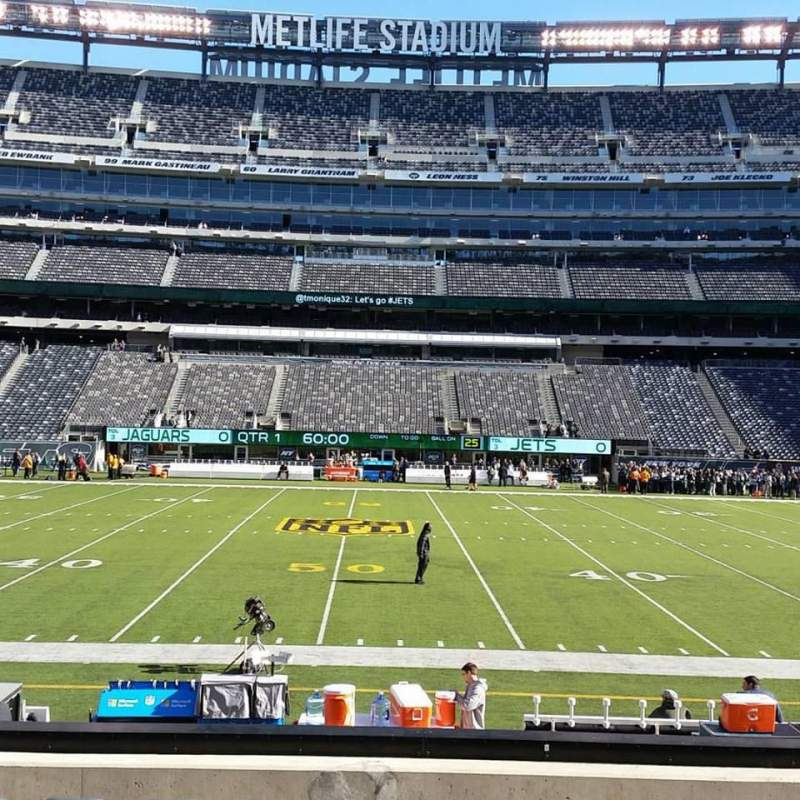 Seating view for MetLife Stadium Section 139 Row 13 Seat 1