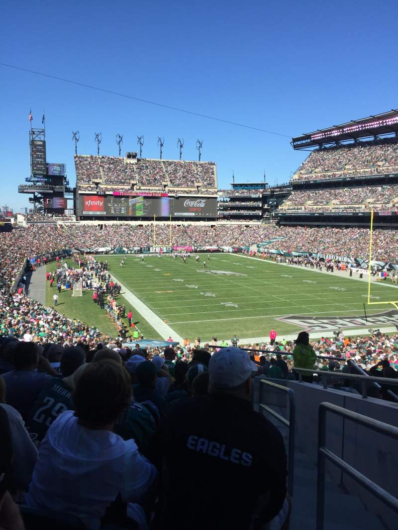 Seating view for Lincoln Financial Field Section 108 Row 41 Seat 1