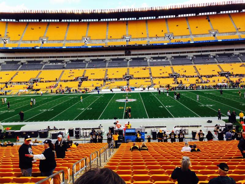 Seating view for Heinz Field Section 135 Row aa Seat 20
