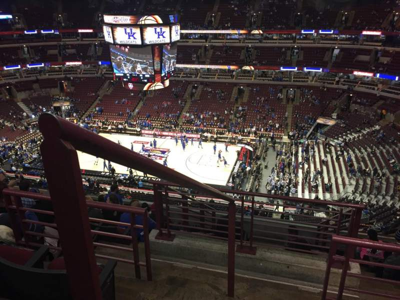 Seating view for United Center Section 316 Row 11 Seat 1