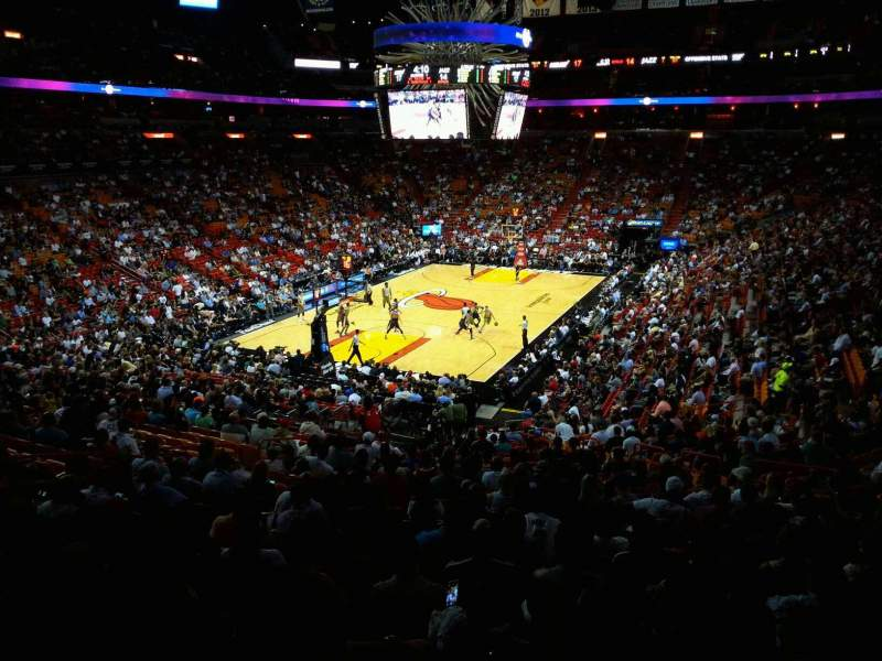 American Airlines Arena, section: 123, row: 33, seat: 10